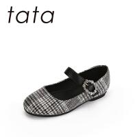 【119元任选2双】他她/tata童鞋儿童时装鞋公主鞋2018秋季学生鞋舞蹈鞋黑色女童单鞋时装鞋(3-15岁可选)W80609
