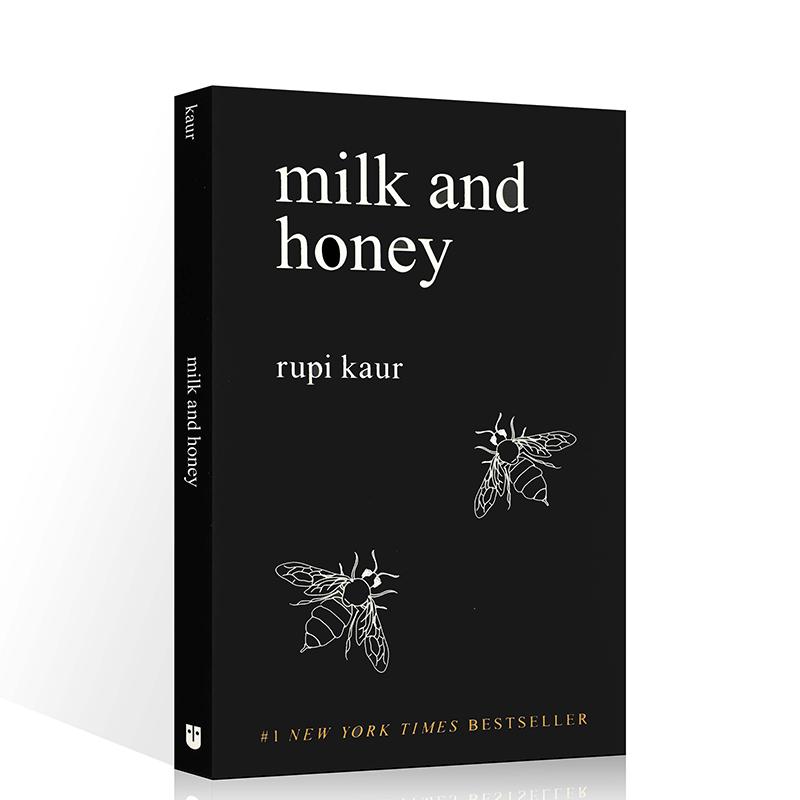 英文原版 Milk and Honey牛奶与蜂蜜 自传体诗集丁丁张推荐  心灵治愈书籍作者手绘插图 露比考尔 纽约时报畅销书诗歌