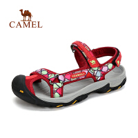【每满100减50 200-100 300-150】新品 CAMEL骆驼户外女款沙滩鞋 防滑透气女士沙滩凉鞋