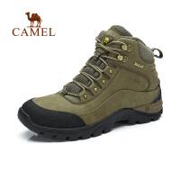 CAMEL 骆驼 户外徒步鞋 秋冬男士新款高帮系带磨砂皮减震户外鞋子