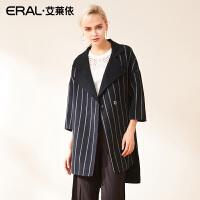 ERAL/艾莱依2018秋季新款双面呢外套女士中长款毛呢大衣617072010