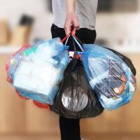 加厚垃圾袋卷�b手提�c�嗍郊矣�N房黑色�h保清��袋背心式塑料袋