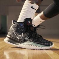NIKE KYRIE 7 EP 欧文7代男子气垫缓震实战运动篮球鞋 CQ9327-002 黑绿
