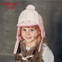 卡蒙小童帽女童春秋 可爱鸭舌帽童帽秋款男童儿童冬天帽子护耳帽5812