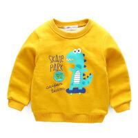 男童加绒卫衣加厚童装5一7岁宝宝上衣男女童t恤冬装儿童外套冬季AG12WY0088