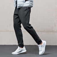 【低价直降】361度男裤2018秋冬季运动型格空气层舒适卫裤小脚束口针织长裤
