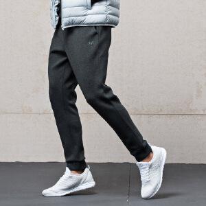361度男裤2017秋冬季运动型格空气层舒适卫裤361小脚束口针织长裤