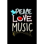 预订 Peace Love Music: Sheet Music Notebook, Blank Manu* Pape
