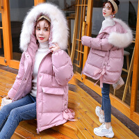 冬季韩版宽松加厚棉袄女连帽衣服孕妇冬装孕后期外套棉衣