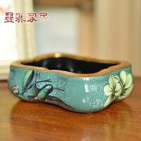 墨菲欧式创意个性奢华复古客厅茶几办公室大号陶瓷装饰摆件烟灰缸