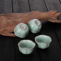 陶瓷个人杯青瓷杯汝瓷茶道单杯小杯开片汝窑功夫茶具水杯茶
