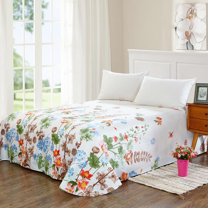当当优品 纯棉斜纹床上用品 床单200*230cm 花团锦簇