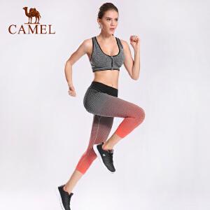 camel骆驼女款运动七分裤 女款休闲跑步针织七分裤