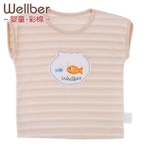 威尔贝鲁 夏季宝宝T恤纯棉婴儿短袖t恤男女小童上衣卡通薄儿童