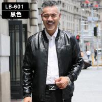 爸爸装皮衣春秋棒球领皮夹克中年男40-50岁中老年加绒休闲外套ALN-LB601