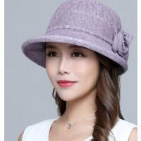 防紫外线妈妈太阳防晒沙滩帽 中老年女士大沿遮阳帽可折叠盆帽 支持礼品卡