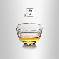 当当优品 描金梅花平光品茗杯 光阴系列 手工高硼硅玻璃品茗杯 功夫茶具 70ml