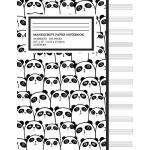 预订 Manu* Paper Notebook: Cute Panda Cover, 12 Staff Music P