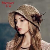 kenmont淑女帽子 盆帽 女英伦贝雷帽 女 卡蒙女士堆堆帽2374