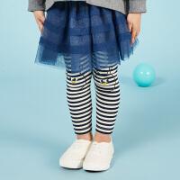 【秒杀价:69元】马拉丁童装女小童打底长裤春装新款宝宝舒适保暖儿童打底裤