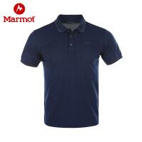 Marmot/土拨鼠户外运动男士速干短袖衬衣休闲舒适Polo衫