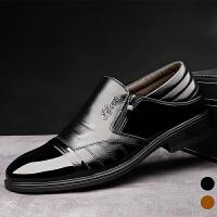 承发 正装商务套脚橡胶底头层牛皮鞋子男 31811
