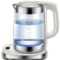 小熊(Bear)玻璃电热水壶 防干烧电水壶 全自动控温电烧水壶 ZDH-A17J1