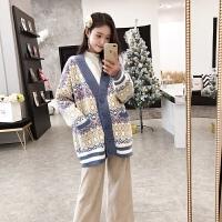 辣妈秋装时尚韩版宽松上衣潮2019秋季新款针织衫外套孕妇毛衣