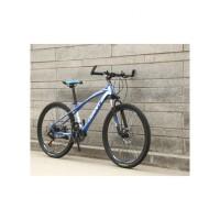 山地自行车 26寸山地自行车减震山地车学生单车24寸变速自行车