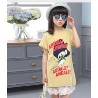 韩版吊带裙短袖夏装裙套女童连衣裙夏季中大童套装小女孩裙子 可礼品卡支付