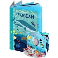 英文原版 The Ocean 海洋世界 360度剧场立体书 礼品书 儿童STEAM科普操作书 Sassi出品