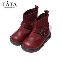 【3折价:140.4元】他她TATA女童皮鞋2020春季新款软底公主鞋黑色校园单鞋学生舞蹈演出鞋