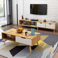 【领券到手价169元】祥然北欧小户型简约现代电视柜茶几组合客厅家具迷你伸缩地柜电视机柜