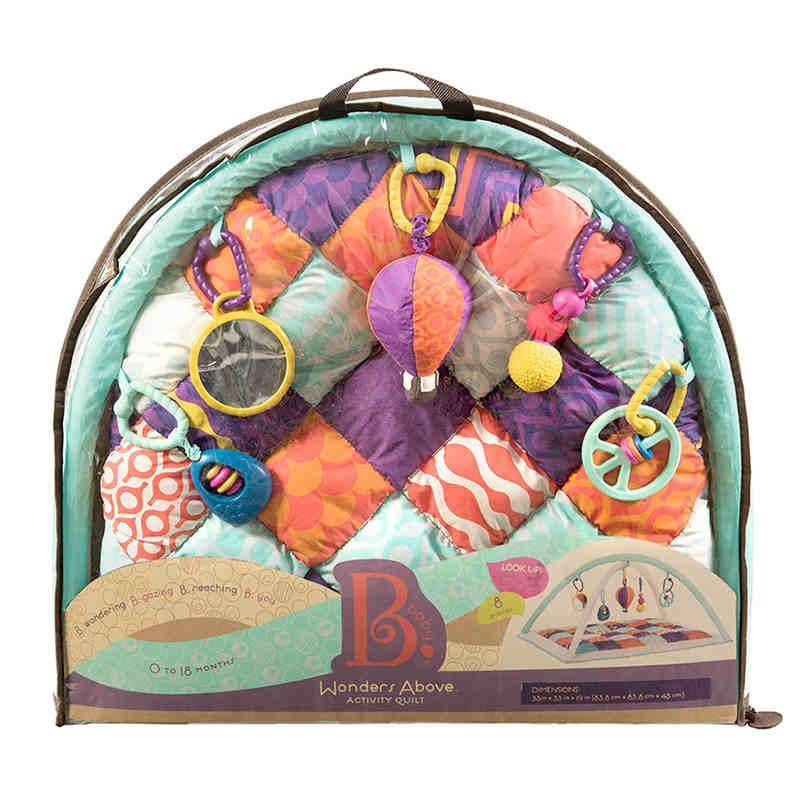 比乐b.toys宝宝运动健身毯婴儿益智游戏爬行垫带支架0-18个月 挂环设计 柔软防滑 0-18个月适用