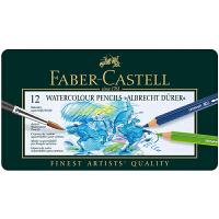 辉柏嘉(Faber-castell)水溶彩铅 艺术家系列水溶性彩色铅笔 绿铁盒 12色117512