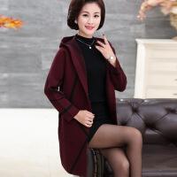 中年 秋天的外套时尚新款妈妈秋冬装中长款显瘦毛衣风衣外套40岁50中年女宽松上衣