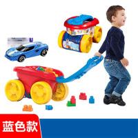 推车学步车积木收纳儿童玩具1-3岁自动收纳手拉车拖车