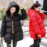 冬季外套宽松短款加厚棉袄大码孕妇冬装连帽怀孕后期棉衣