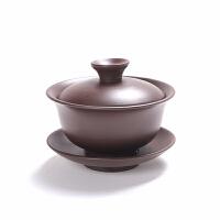 紫砂如意盖碗茶碗茶杯垫带盖功夫茶具单品泡茶喝茶器三才碗