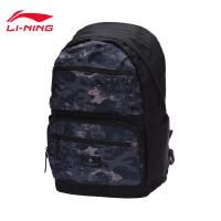 李宁双肩包男包篮球系列背包迷彩书包学生电脑包运动包ABSM099