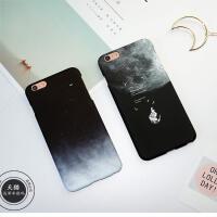 【支持礼品卡】黑色星空沙滩大理石纹苹果6手机壳iPhone6sPlus创意超薄磨砂硬壳