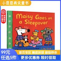 进口英文原版 Maisy goes on a Sleepover 小鼠波波熬夜狂欢 4-8岁