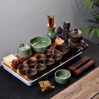 半全自动懒人瓷简约喝茶台茶道茶盘紫砂茶具套装家用整套