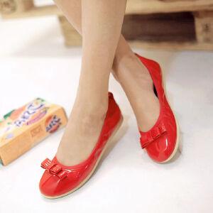 O'SHELL欧希尔新品057-1509-1韩版平底鞋女士豆豆鞋