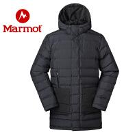 Marmot/土拨鼠秋冬款户外防风防水透气保暖男士中长款厚重棉服