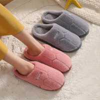 棉拖鞋女冬季家用室内居家居保暖防滑厚底情侣新款毛拖鞋男秋冬天
