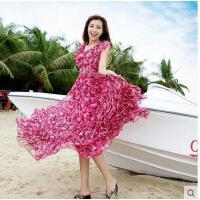 海边度假海滩沙滩裙新性感仙旅游款显瘦波西米亚雪纺连衣长裙可礼品卡支付