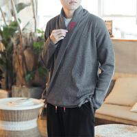 佛系男装秋冬季中国风针织衫男士复古风泰国缅甸服装中式毛衣汉服