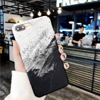 ins冷淡风水墨画苹果x手机壳iphone7/8plus/6s全包磨砂硬壳套创意