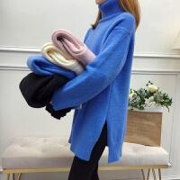 秋冬款宽松上衣大码加厚打底针织衫孕妇装冬装套装时尚中长款毛衣